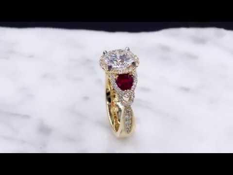 Vintage Old World Engagement Ring