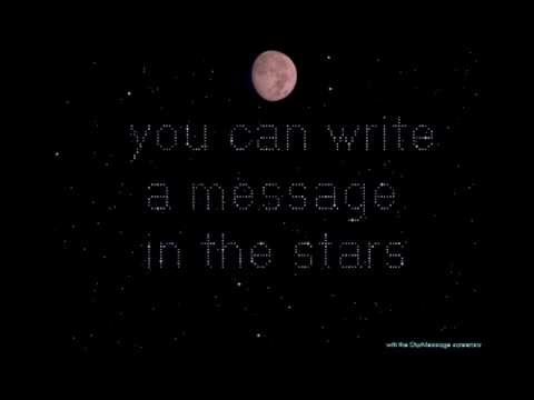 starmessage night sky screensaver shows the current moon phase and
