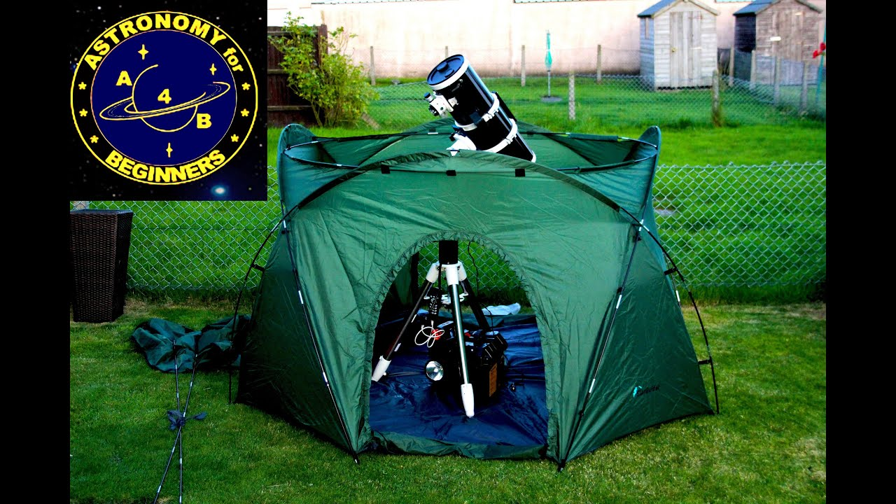 a product review on the portable observatory tent mark ii youtube