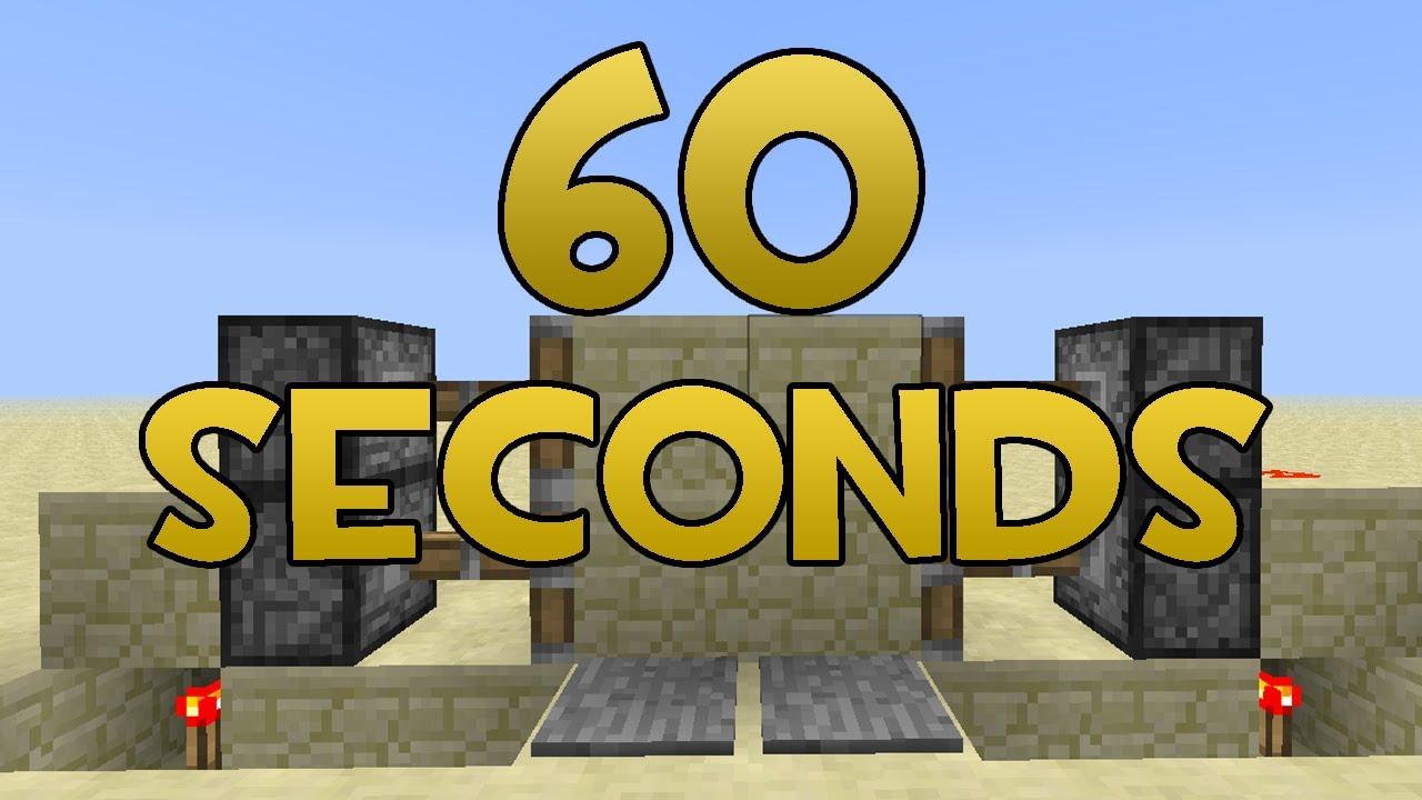 & Minecraft: 2x2 Piston Doors in 60 Seconds (EASY) - YouTube Pezcame.Com