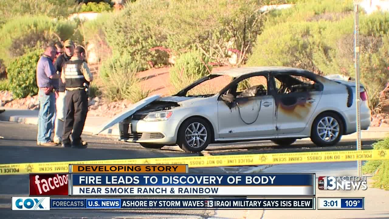 Body discovered inside burned car - YouTube