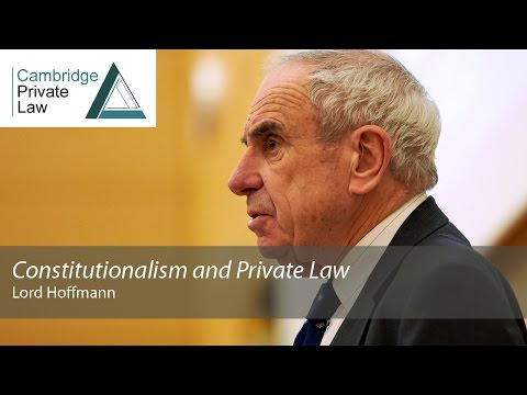 'Constitutionalism and Private Law': 2015 Cambridge Freshfields Lecture
