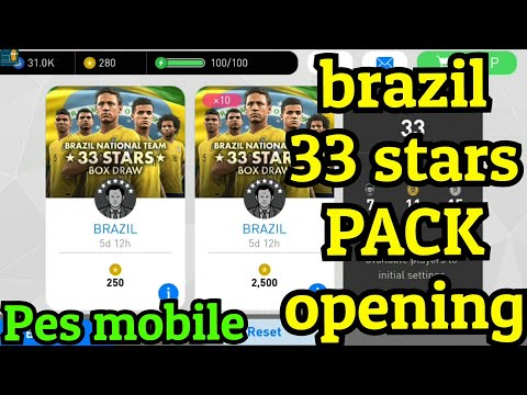 BRAZIL 33 stars box draw & partner club - Pack opening
