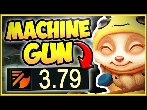 MAX ATTACK SPEED TEEMO CHALLENGE IS 100% DUMB! MACHINE GUN TEEMO TOP GAMEPLAY! - League of Legends