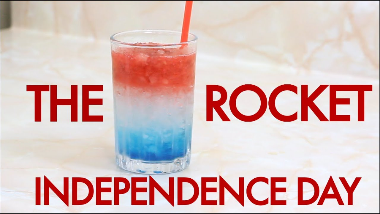 How To Make A 4th Of July Independence Day Rocket Layered Cocktail
