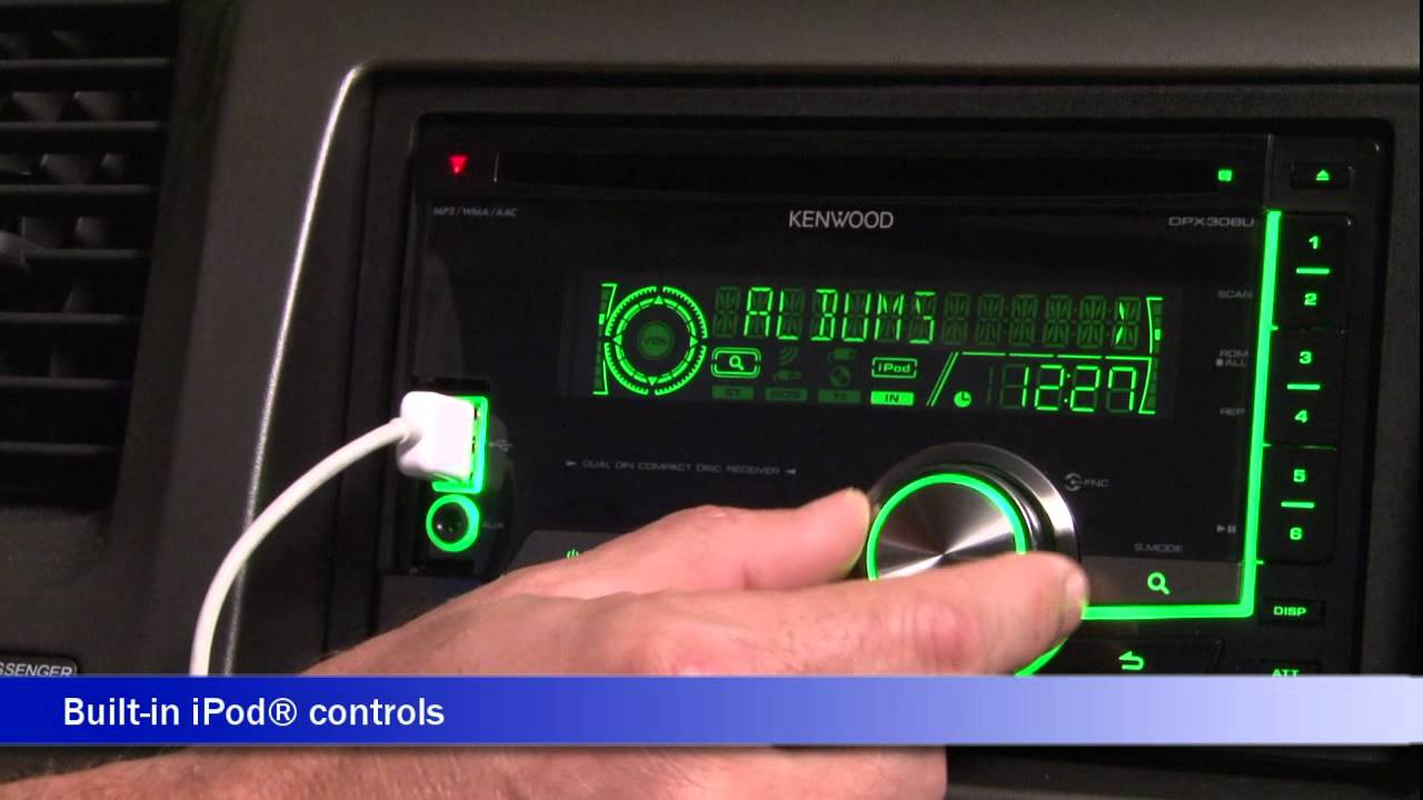 kenwood dpx308u cd receiver display and controls demo crutchfield kenwood kdc 252u kenwood dpx308u cd [ 1280 x 720 Pixel ]