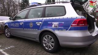 fustw neuer streifenwagen passat kombi b7 fr hagener polizei