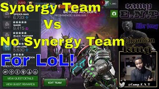 Synergy Team Vs No Synergy team for Labyrinth Of Legends  l  Marvel Contest Of Champions