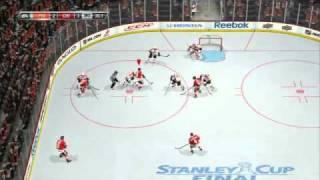 NHL 11 Video Game, Demo Philadelphia Vs Chicago Gameplay
