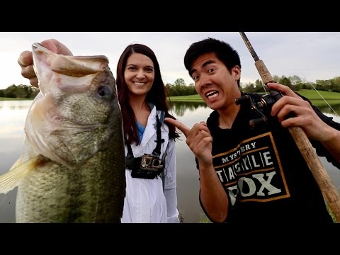 INTENSE Fish-Off vs. the BEST Fisherwoman on Youtube?! (1Rod1ReelFishing vs. Bamabass' Wife)