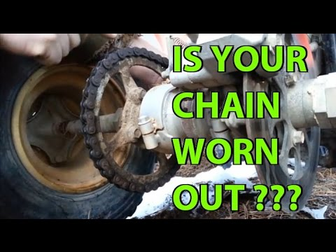 When is a Chain worn out?   ATV, Motorcycles, and other Equipment