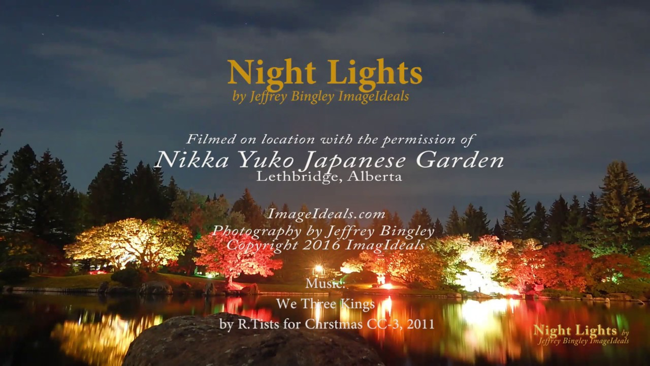 Japanese Garden At Night nikka japanese garden winter lights - youtube