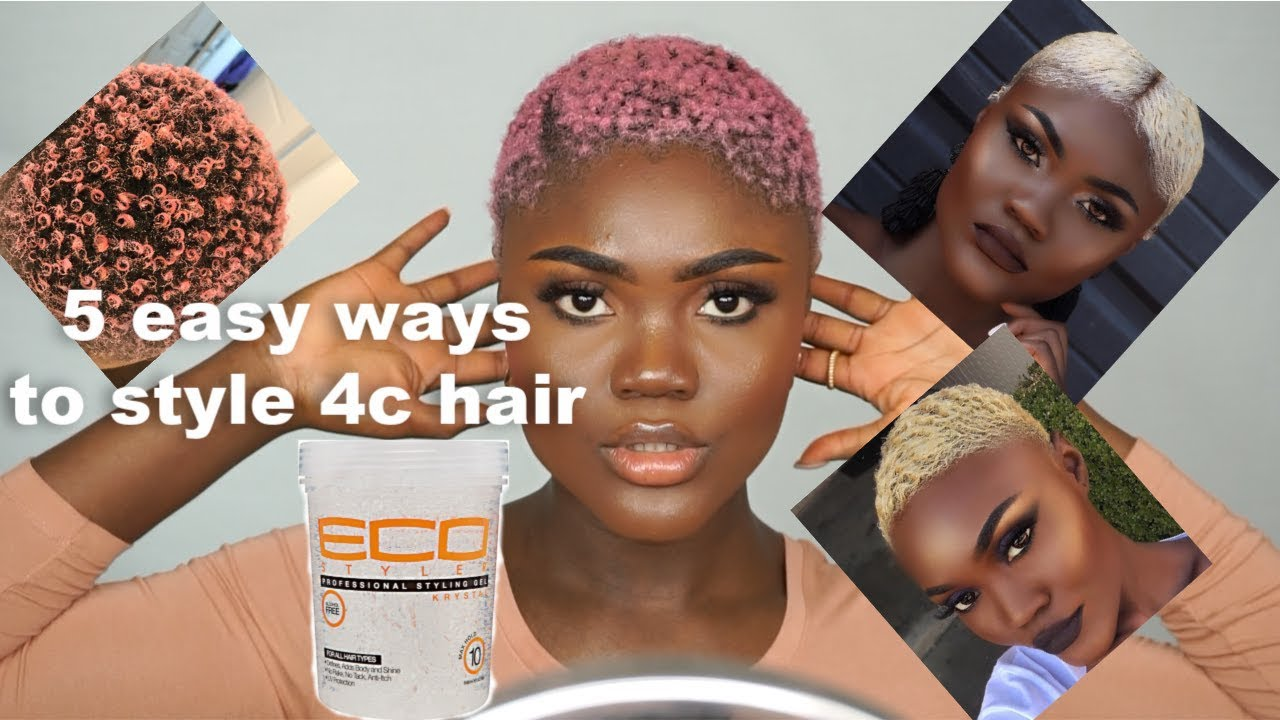 How to/ 5 easy ways to style short 4c hair