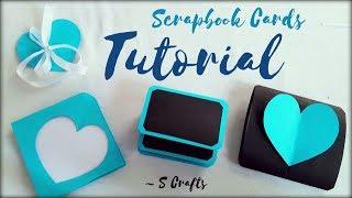 Scrapbook card Tutorial ✂️   S Crafts   Handmade scrapbook making   scrapbook Gift ideas   easy