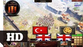 2v2 Ottoman & British Team Fast Age Up Boom! AOE 3