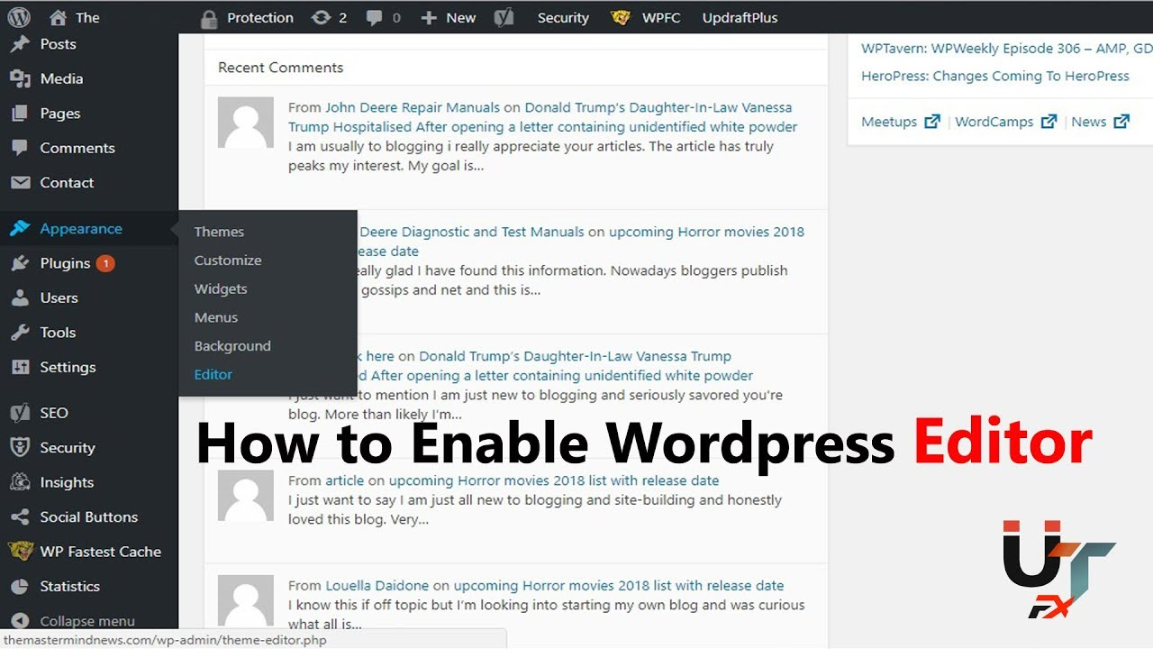 How to enable Wordpress Appearance Editor | without any Plugins | 100% working & Easy method