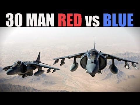 HUGE 30-Pilot Tactical Red vs Blue PvP Battle | Air & Land | DCS WORLD