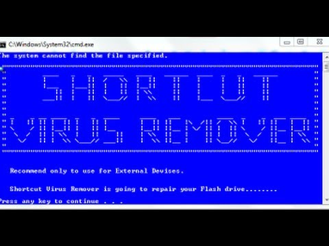 remove shortcut virus from pen drive using cmd