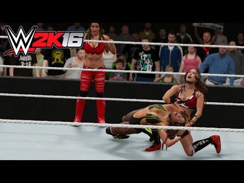 Bella Twins vs Naomi & Cameron - Switched Attires - WWE 2K16 PS4