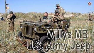 Willys MB U.S. Army Jeep Американский Военный Автомобиль Виллис   Серба ТВ.