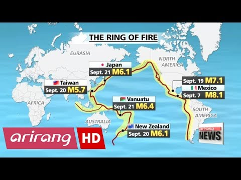 Strg earthquakes hit countries situated alg Pacific Ring of Fire