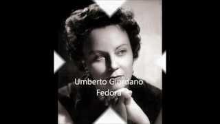 Mario del Monaco Magda Olivero  Fedora Umberto Giordano