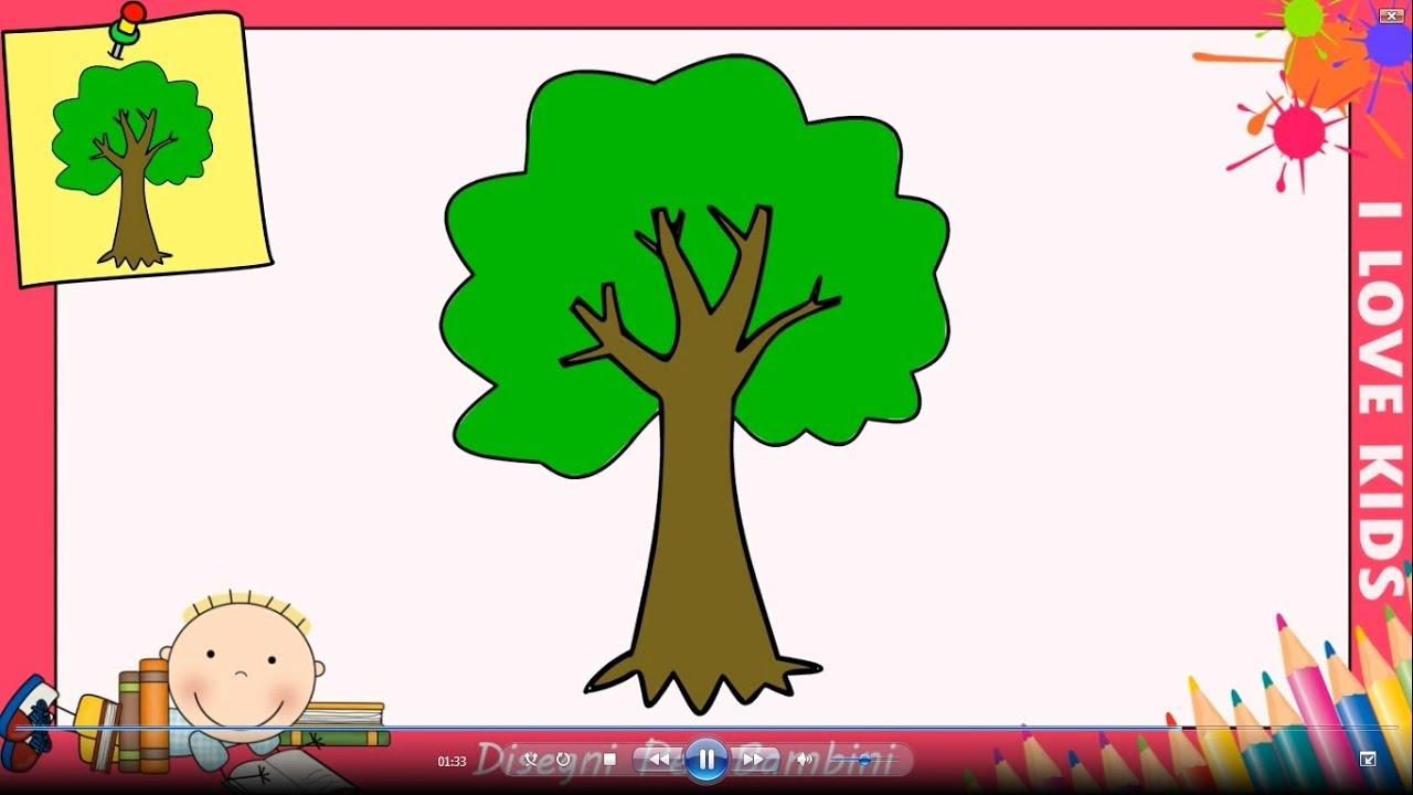 Come disegnare un albero facile passo per passo per for Fiori da disegnare facili