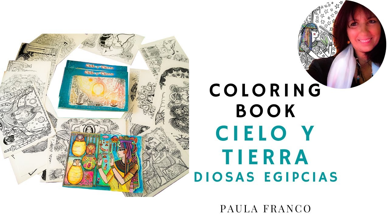 Medita y Colorea las Diosas Egipcias, Libro regalo Coloring Book
