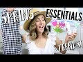 Spring Essentials + Trends 2018! Beauty and Fashion!