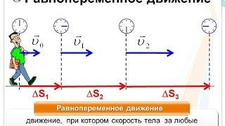 Равнопеременное (равноускоренное) движение
