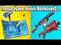 10 THINGS THAT HAVE BEEN REMOVED FROM FORTNITE (fortnite season 5 changes)