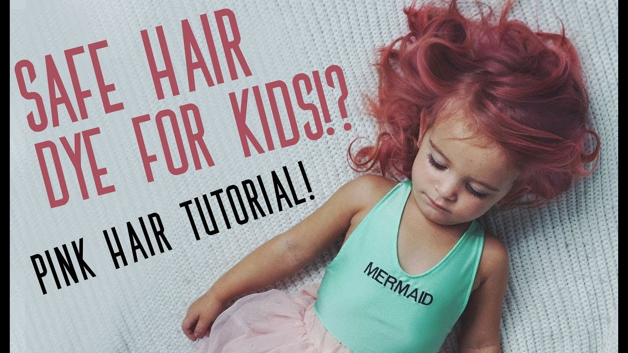 KID SAFE HAIR COLOR!? | Pink Hair Color Tutorial - YouTube