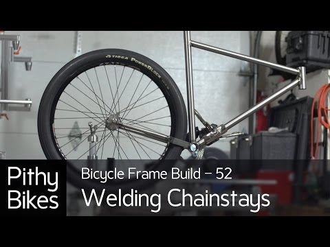 Bicycle Frame Build 52 - Tig Welding Chinstays to Bottom Bracket Shell