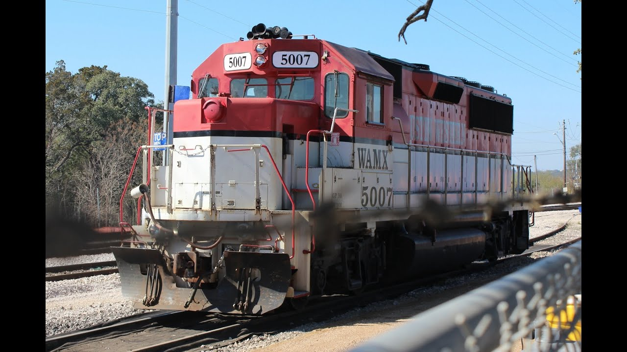 Austin Western Railroad locomotives and BNSF action in Temple, TX!