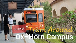 Iconic Red Tram Huawei OX HORN Campus Dongguan China | Hop On Hop Off of 12 European Cities