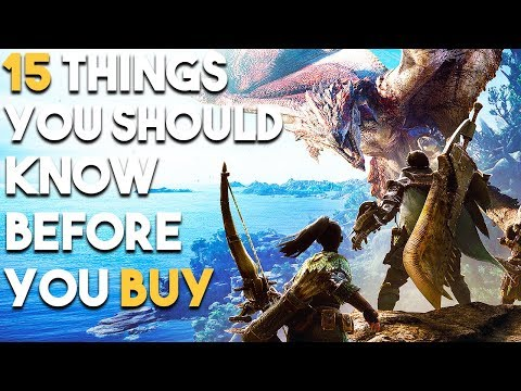 Monster Hunter World 15 EPIC Things You Should Know Before You BUY (PS4 XBOX ONE PC)