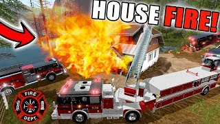 NEW FIRE MODS | MULTIPLAYER | HOUSE FIRE | FARMING SIMULATOR 2017