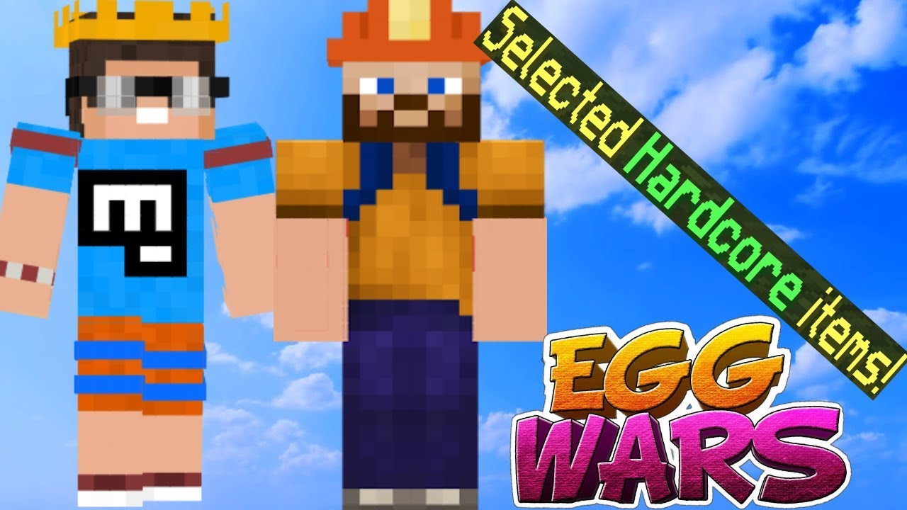 ADŞ İLE HARDCORE MOD'DA EGG WARS | Minecraft Egg Wars ...