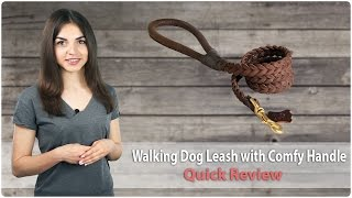 Dog Leash For Walking With Comfy Handle - Review From Fordogtrainers