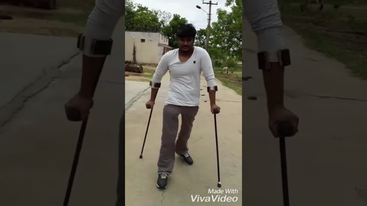 T12 Spinal Cord Injury Complete Walk With Crutches By Poorna Youtube