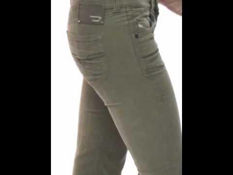 pantalon femme velours beige diesel doozy 72x youtube. Black Bedroom Furniture Sets. Home Design Ideas