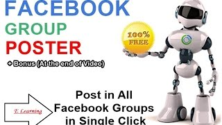 How to post in all facebook groups with single click