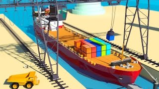 Vids For Kids In 3d (hd) - Crane And Cargo Ships, Boats, Vessels For Children At Work - Aapv