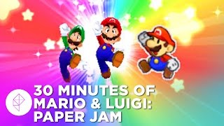 30 Minutes of Mario & Luigi: Paper Jam Gameplay