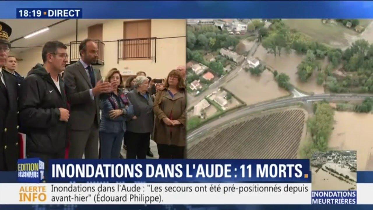 Inondations dans l'Aude: le Premier ministre