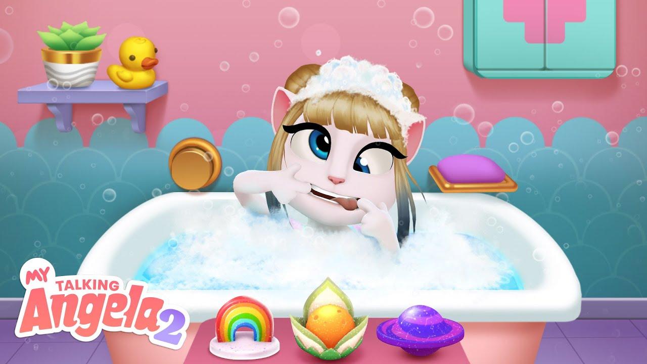 🛀✨ Best Bubbles EVER! My Talking Angela 2 #shorts