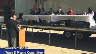 Ways and Means Public Forum - November 14, 2015