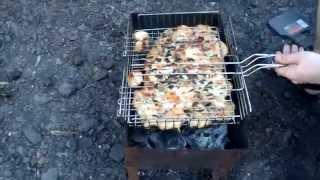 шашлык из курицы на решётки быстро и очень просто