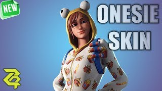 Fortnite Solo NEW Onesie Skin Gameplay (Durr Burger Outfit)