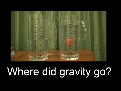 Explained! No gravity it's only Density